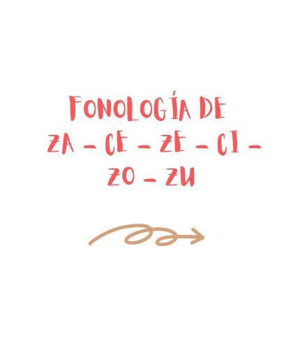 FONOLOGÍA DE ZA - CE - ZE - CI - ZO - ZU
