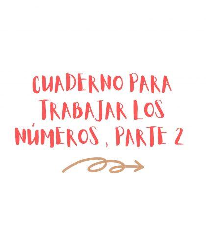 cuaderno para trabajar los números con niños