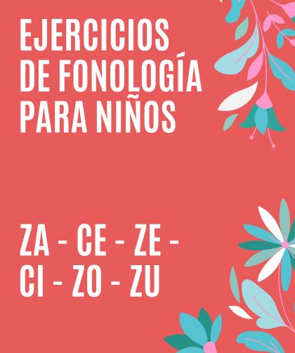 ejercicios de fonología para niños